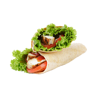 Chicken wraps with lettuce